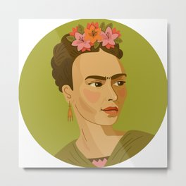 Queer Portrait - Frida Kahlo Metal Print
