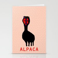 alpaca Stationery Cards featuring ALPACA by FUNCIT