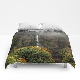 Multnomah Falls Oregon Comforters