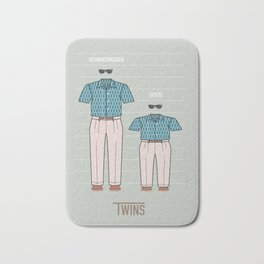 Twins - Alternative Movie Poster Bath Mat