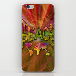 Teach Peace iPhone Skin