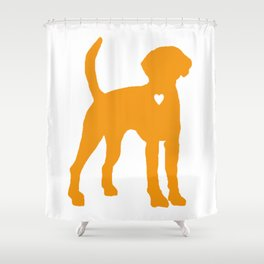My American Foxhound Dog Heart Belongs To You Shower Curtain