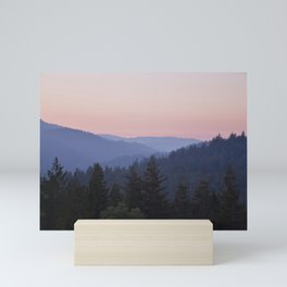 Sunset in the Santa Cruz Mountains Mini Art Print