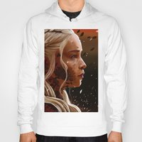mother of dragons Hoodies featuring Mother of dragons by cloudyh