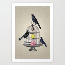 Keeper Crows Art Print