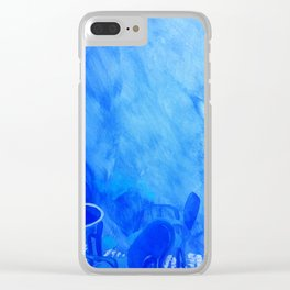 Morrocco blue Clear iPhone Case