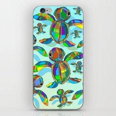 Baby Sea Turtle Fabric Toy iPhone & iPod Skin