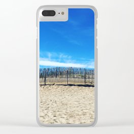 Sand dunes in the south of France Clear iPhone Case