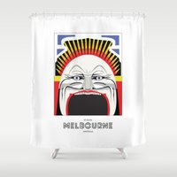 melbourne Shower Curtains featuring Melbourne by George Williams