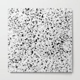 Black and white bubble sponge texture Metal Print