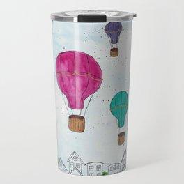 """""""Hot Air Balloon Ride"""" - Karla Leigh Wood Travel Mug"""