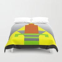 8 bit Duvet Covers featuring 8-Bit Hero by Tiny Pixel Designs
