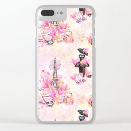 Fashion and Paris #1 Clear iPhone Case