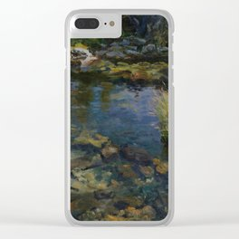 Alpine Pool , John Singer Sargent, river, water, night Clear iPhone Case