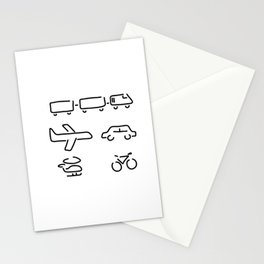 turn mobility travel Stationery Cards