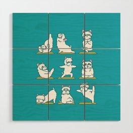 West Highland Terrier Yoga Wood Wall Art