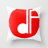 logo Throw Pillows featuring logo by davefallonphotography