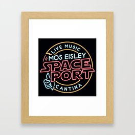 MOS EISLEY SPACE PORT Framed Art Print