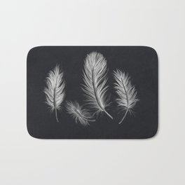 Chalk feather collection Bath Mat