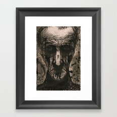 Ink Face Framed Art Print