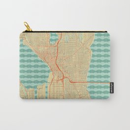 Seattle Map Retro Carry-All Pouch