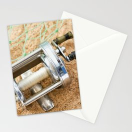 Vintage Fishing Reel 2 Stationery Cards