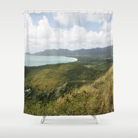hawaii Shower Curtains featuring Hawaii by Kakel-photography