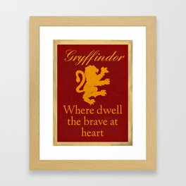 Gryffindor The Brave Framed Art Print