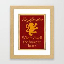 Gryffindor The Brave Framed Art Print