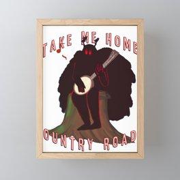 Mothman, Country roads banjo Framed Mini Art Print