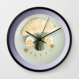 Eat Your Vegetables Wall Clock
