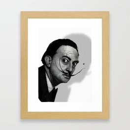 Salvador Dalí (b&w) Framed Art Print