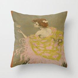 Vintage poster - Sifilis Throw Pillow