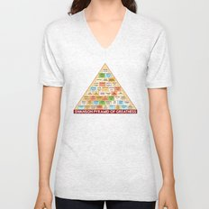 ron swanson's pyramid of greatness Unisex V-Neck