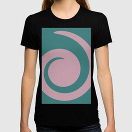 Aqua and Orchid Swirl T-shirt