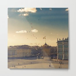 Ballons on Palace Square, St. Petersburg Metal Print