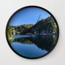 Snow Lake Wall Clock