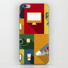 Designer flat tools iPhone Skin