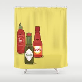 The Hot Sauces Shower Curtain