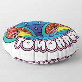 This Time Tomorrow Floor Pillow
