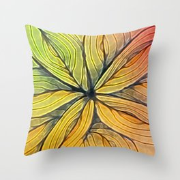 Doodled Aura-Leah Digitized Macro Throw Pillow