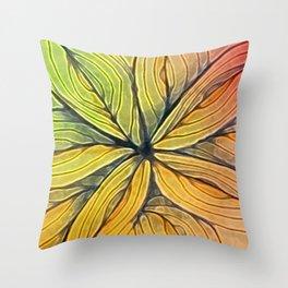 Doodled Aura-Leah Digitized Macro Throw Pillow