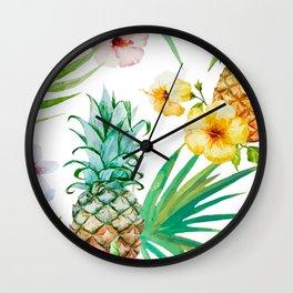 Pines & palms Wall Clock