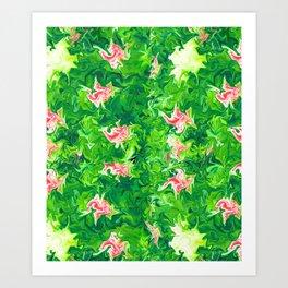 Monet's Garden Leggings Art Print