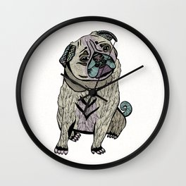 Ares The Pug Wall Clock