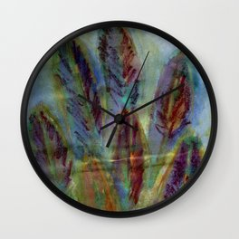 Feathered Leaves Wall Clock