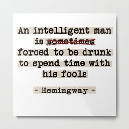 Correcting Hemingway Metal Print