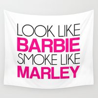 barbie Wall Tapestries featuring Barbie by I Love Decor