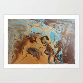 Caramel Blend Art Print