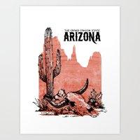 arizona Art Prints featuring Arizona by Krikoui